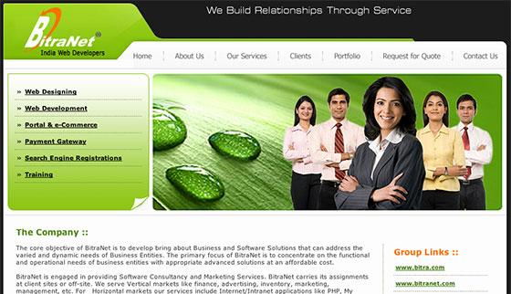 Сайт индийской фирмы занимающейся веб-разработкой