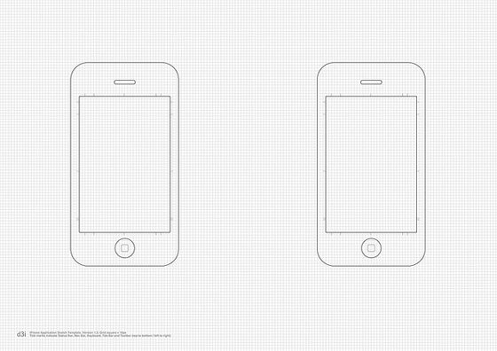 Шаблон для рисования экранов приложения для iPhone